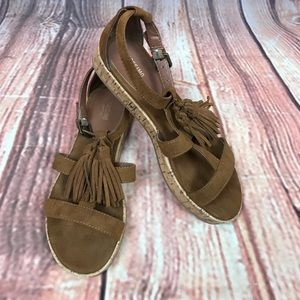 Mossimo Brown Tassle Sandals Size 7.5